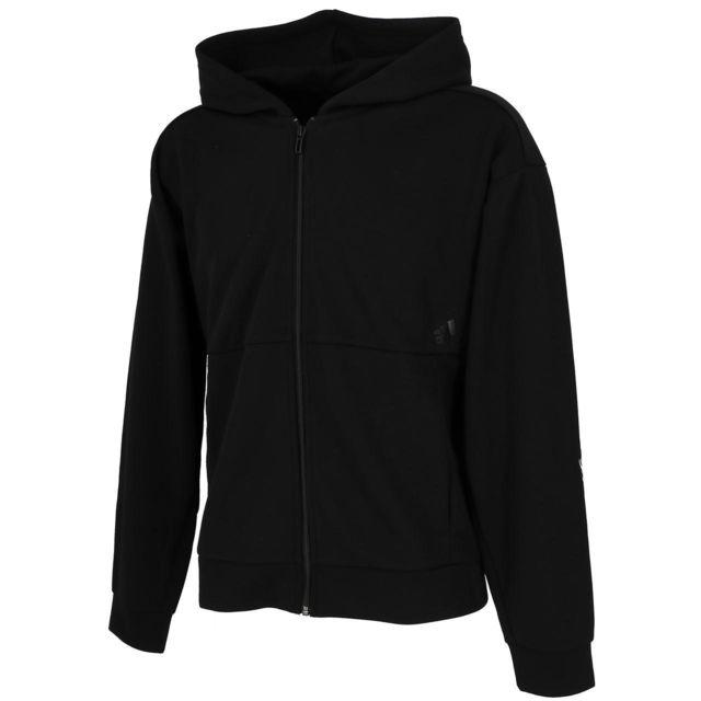 ADIDAS Vestes sweats zippés capuche Mh black fz cap sweat Noir 29195