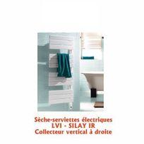 Lvi - Sèche serviette électrique SILAY IR Collecteur vertical à droite 1000W