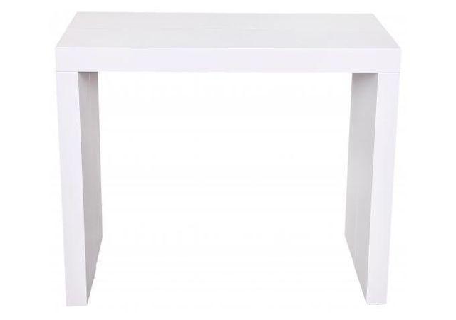 Declikdeco Epurée et design, la Console extensible blanche 225cm mat Mayline saura optimiser la pièce où vous placerez ce meuble. V