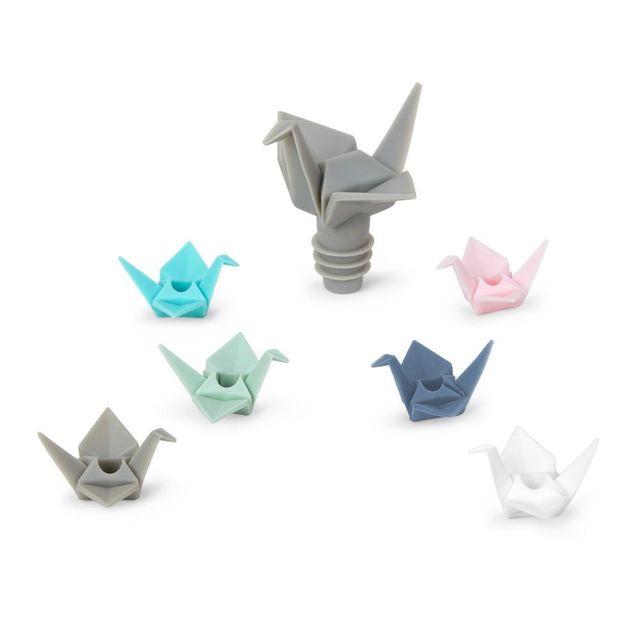 UMBRA Bouchon de bouteille caoutchouc Origami Lot de 7
