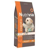 Nutrivia - Croquettes au Poulet et Riz pour Chiot de Grande Taille - 3Kg