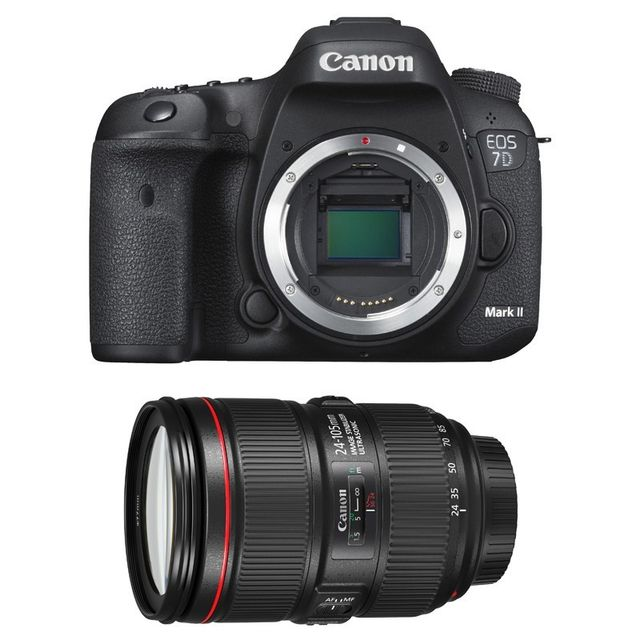 Canon Eos 7D Mark Ii + Ef 24-105 f/4 L Is Ii Garanti 3 ans