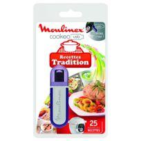 MOULINEX - clé usb 25 recettes traditionnelles pour cookeo ce7021 - xa600200