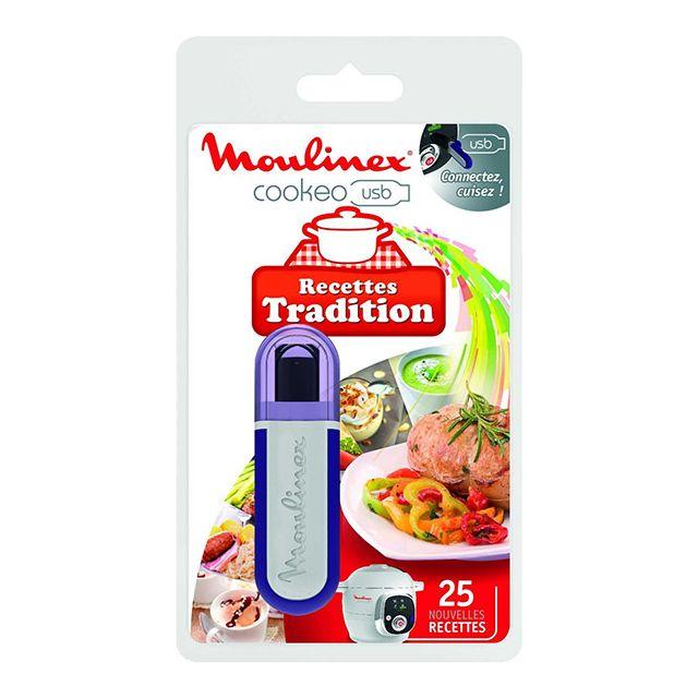 MOULINEX clé usb 25 recettes traditionnelles pour cookeo ce7021 - xa600200