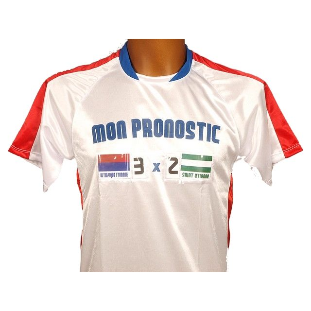 Pronostic T-shirt - Maillot de football Pronostic lyon Blanc 80437