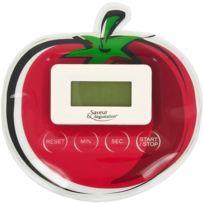 Promobo - Minuteur Electronique Magnet Cuisine Forme Tendance Fun Tomate