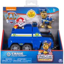 Ultimate Chase Et Son Fourgon De Police Camion Figurine Et Vehicule Paw Patrol