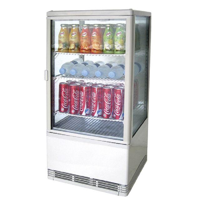 MATERIEL CHR PRO Mini Vitrine Réfrigérée 70 litres - 3 Etagères - 70 L - Virtus