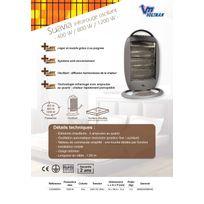 Voltman - Infrarouge oscillant gris 400/800/1200W Suavia Dio080804