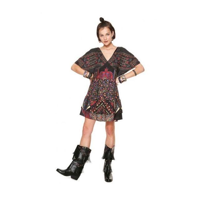 Motifs Robe 46 Taille Gina Noir Femme Et 18wwvwa0 4LAq3R5j