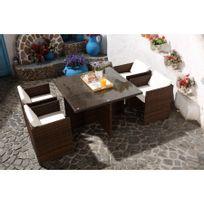 Vidaxl - Salon de jardin 15 pièces en rotin marron Brun - pas cher ...