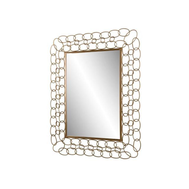 Bobochic Miroir rectangulaire métal doré Jiosa