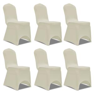 Rocambolesk - Superbe Housse crème extensible pour chaise 6 pièces Neuf