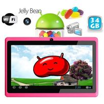 Yonis - Tablette tactile Android 4.1 Jelly Bean 7 pouces capacitif 34 Go Rose