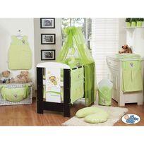 Autre - Lit et Parure de lit bébé bonne nuit vert lit cadre wengé
