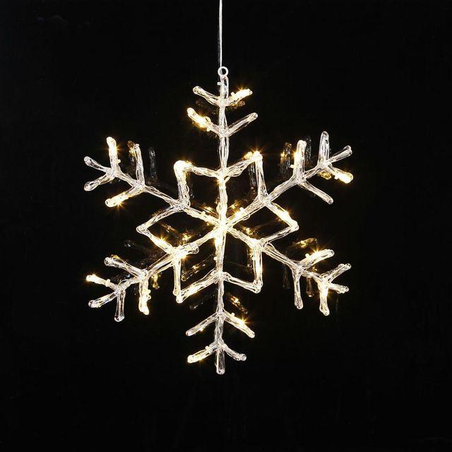 Xmas Living Glass Antartica - Flocon Lumineux Transparent à suspendre Led H40cm - Suspension designé par