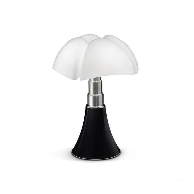 Martinelli Luce Mini Pipistrello Cord-less - Lampe Nomade Noir Led H35cm - Lampe à poser designé par Gae Aulenti
