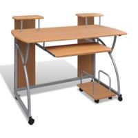Vidaxl - Table de Bureau Brune pour Ordinateur avec étagère