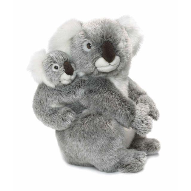 Wwf 15186004 - Peluche - Maman Koala avec Bébé - 28 cm