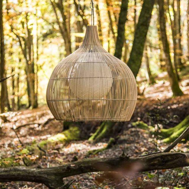 Wanda Collection Lampe suspension en osier 61 cm