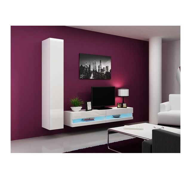 CHLOE DESIGN Ensemble Meuble tv design VALERIA - blanc