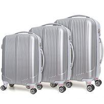Robby - ensemble de 3 valises à roulettes gris - trotter case gris