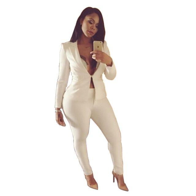 Wewoo Blanc Printemps Femme Et Pantalons Été Manches Longues OZiwXuTPkl