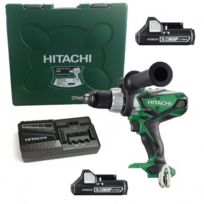 Hitachi - Perceuse/Visseuse à Percussion Dv18DSDL 18V Li-Ion 2 x 3.0Ah, + Coffret de transport