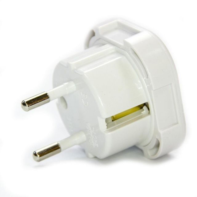 Adaptateur Prise Anglaise Uk Femelle Vers Prise France Mâle Cee 10a Blanc