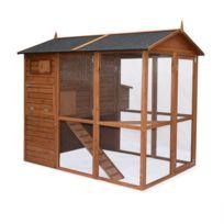 Poulailler en bois COTENTINE, cage à poule de 195x163x173cm