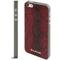 Kubxlab - Coque effet peau de serpent rouge iPhone 5