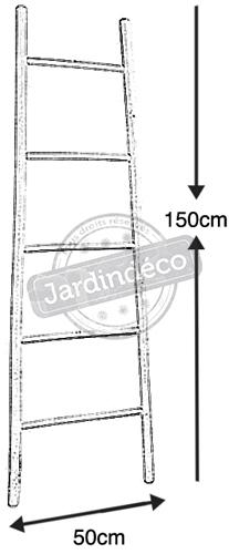 Échelle porte serviette en bambou