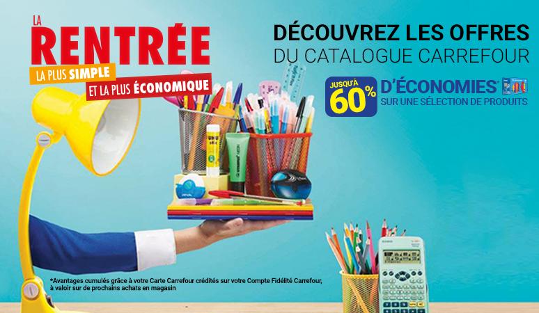 Découvrez les offres de la rentrée du catalogue Carrefour