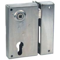 Devismes - Serrure De Securite A Poser En Applique Verticale Inox - A Fouillot - Réf.:729 - Main:G - Axe mm:45