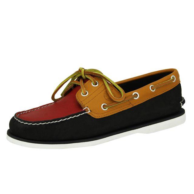 Timberland - Boat Classic 2 Eye Chaussures Bateau Homme Cuir Rouge Brun  Bleu - pas cher Achat   Vente Chaussures de ville homme - RueDuCommerce 6969f09815e