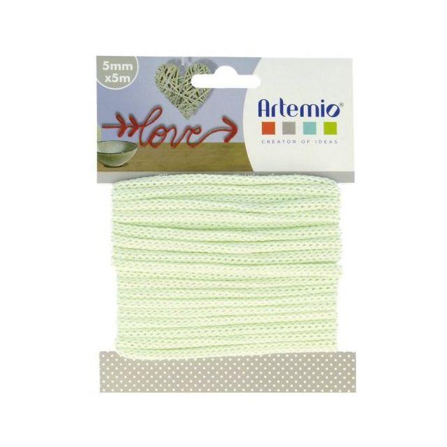 Artemio Fil à tricotin 5 mm x 5 m - vert d'eau