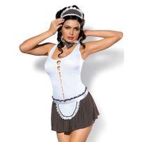 Obsessive - Costume de Soubrette Cookie Blanc L/XL