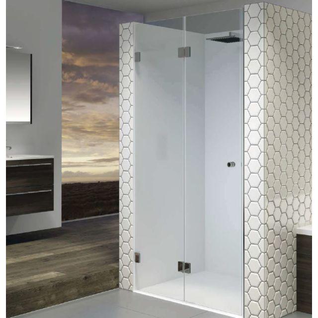 riho porte pliante de douche universelle scandic s105 80x200 cm en verre clair