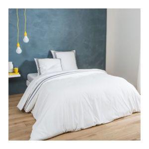 tex home taie de traversin ruban cm en percale pas cher achat vente taie de traversin. Black Bedroom Furniture Sets. Home Design Ideas
