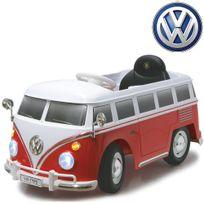 Volkswagen - Voiture véhicule électrique mini van hippie 12V Rouge
