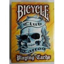 Bicycle - Yellow Tattoo cartes à jouer Jaune