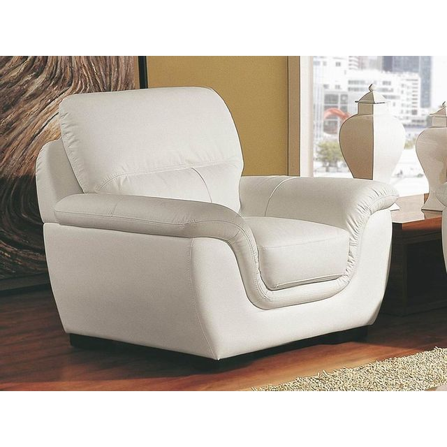 La maison du canap fauteuil cuir kalmia blanc sebpeche31 - La maison du canape ...