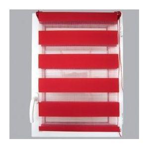 marque generique store enrouleur 90 x h180 cm jour nuit rouge pas cher achat vente. Black Bedroom Furniture Sets. Home Design Ideas