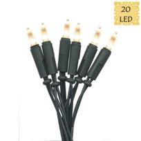 Xmas Living Glass - P Led - Guirlande vert 20 Led 4,35m - Guirlande et objet lumineux designé par