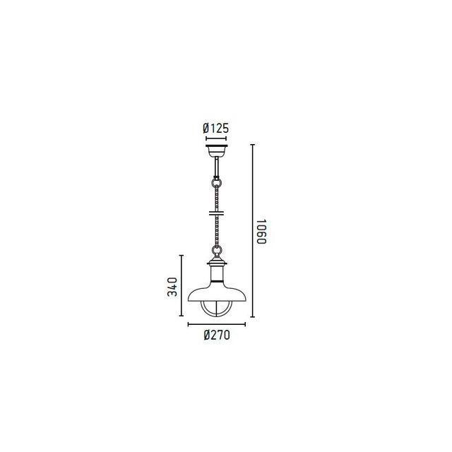 Faro - Suspension brun rouille Estoril P 71142