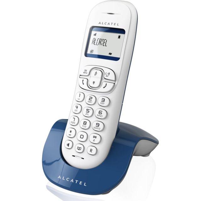 alcatel versatis c 250 bleu pas cher achat vente t l phone fixe sans fil rueducommerce. Black Bedroom Furniture Sets. Home Design Ideas