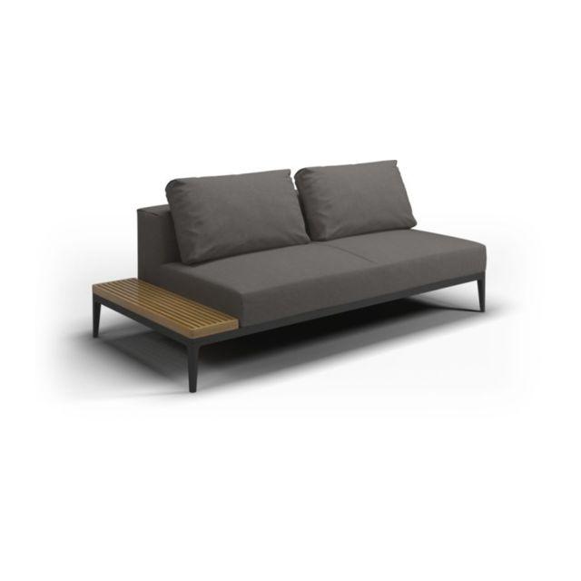 Gloster Canapé et table Grid - granite - Acier époxy gris