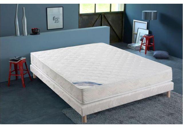 elbm pack sommier tapissier 4 pieds matelas 160 x 200 pas cher achat vente ensembles. Black Bedroom Furniture Sets. Home Design Ideas