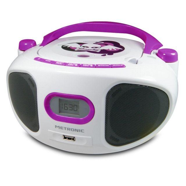 metronic radio cd mp3 enfant miss angel avec usb pas cher achat vente radio rueducommerce. Black Bedroom Furniture Sets. Home Design Ideas