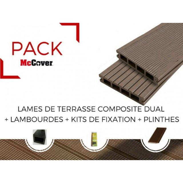 Mccover Pack 1 M Lame De Terrasse Composite Dual Accessoires 4